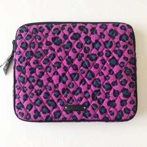 Vera Bradley Purple Cheetah Print IPad Sleeve